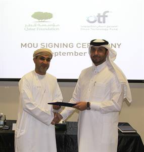 QATAR FOUNDATION RESEARCH AND DEVELOPMENT UNVEILS PARTNERSHIP WITH OMAN TECHNOLOGY FUND