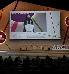 HER HIGHNESS SHEIKHA MOZA ATTENDS QATAR FOUNDATION ANNUAL RESEARCH...
