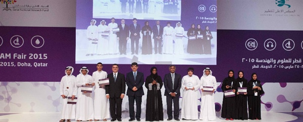 WINNERS OF 1st QATAR STEAM FAIR TO REPRESENT NATION IN INTERNATIONAL SCIENCE AND ENGINEERING COMPETITION